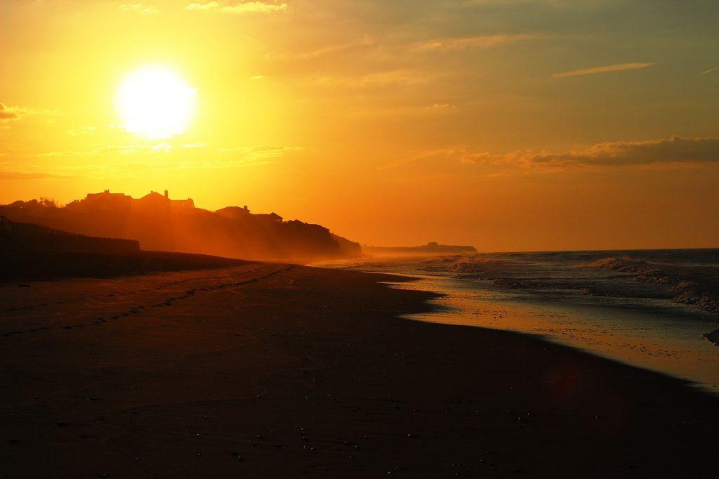 Les Hamptons au coucher de soleil